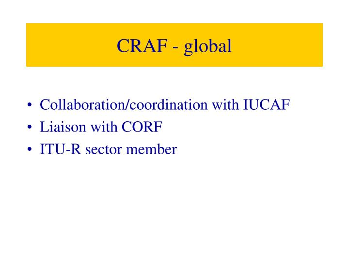 CRAF - global