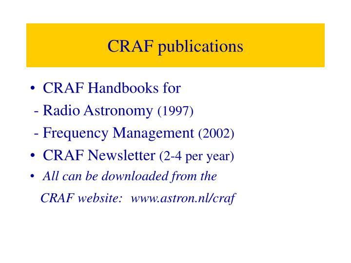 CRAF publications