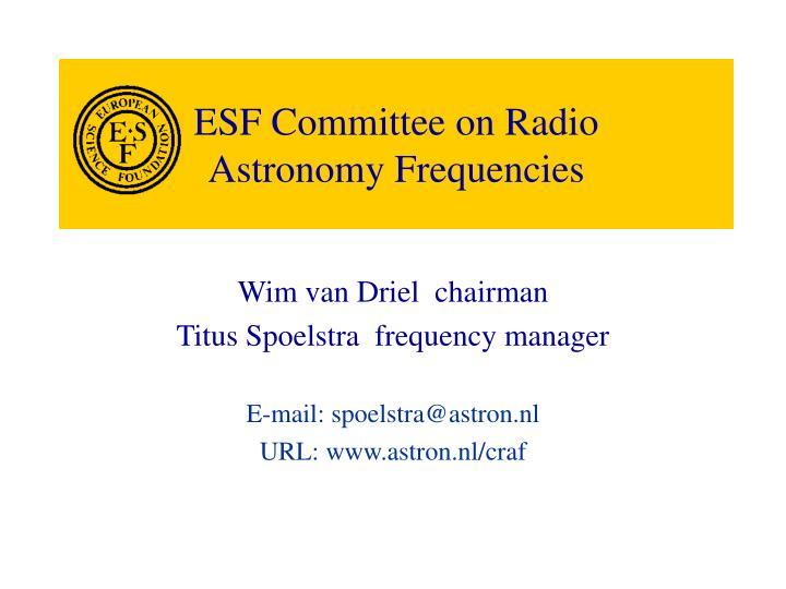 ESF Committee on Radio