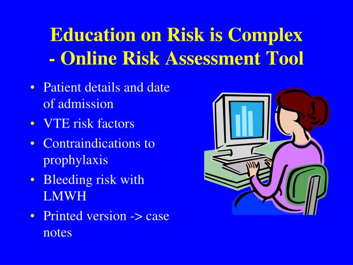 Education on Risk is Complex