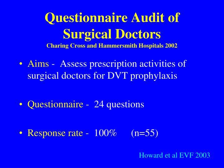 Questionnaire Audit of Surgical Doctors