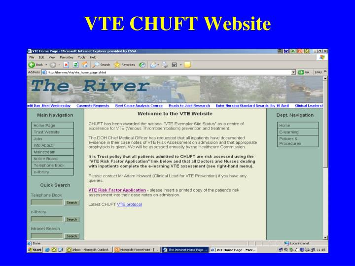 VTE CHUFT Website