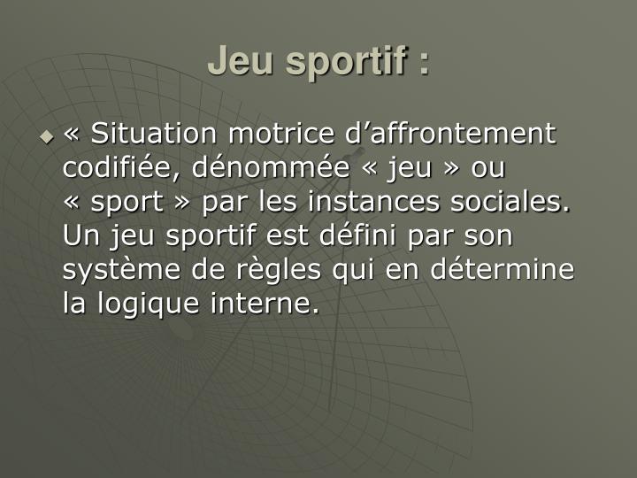 Jeu sportif:
