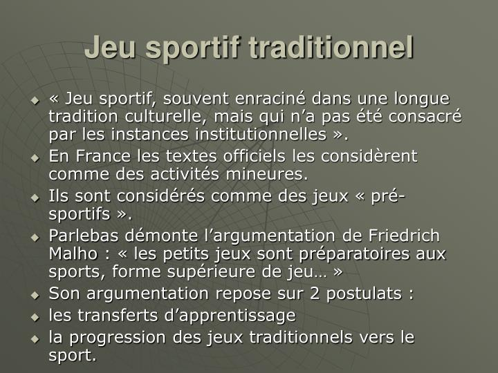 Jeu sportif traditionnel