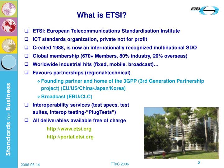 What is ETSI?