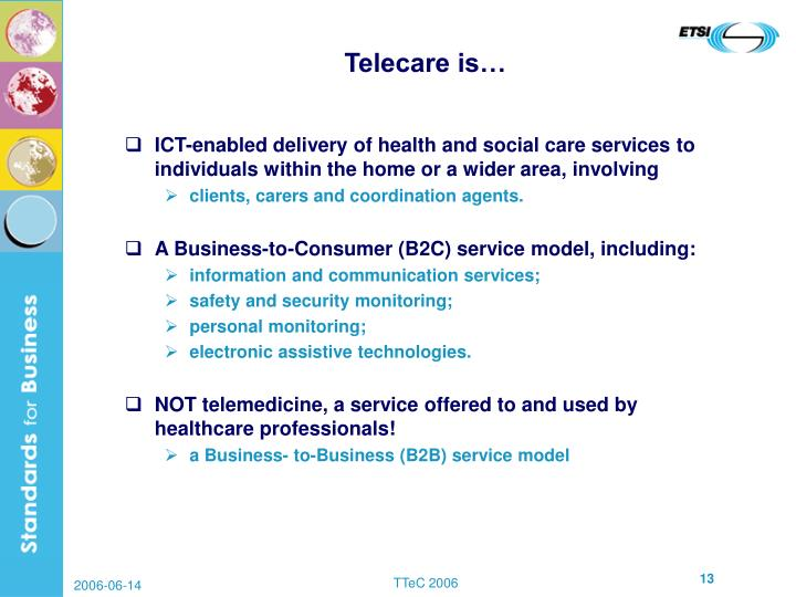 Telecare is…