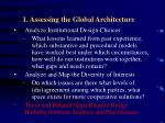 1 assessing the global architecture