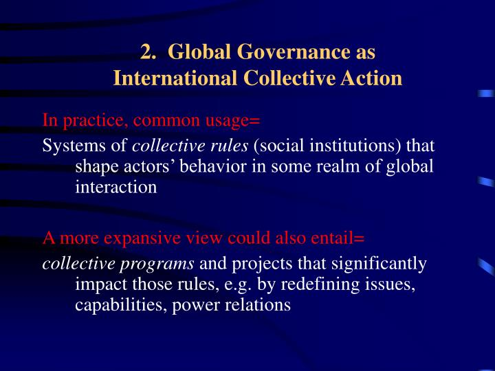 2.  Global Governance as