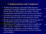 3 implementation and compliance