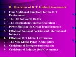 b overview of ict global governance