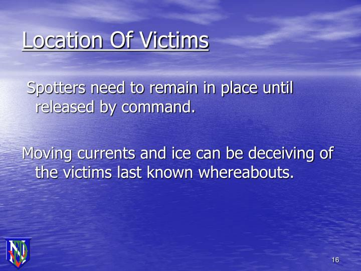 Location Of Victims