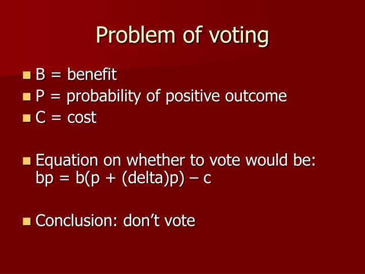 Problem of voting