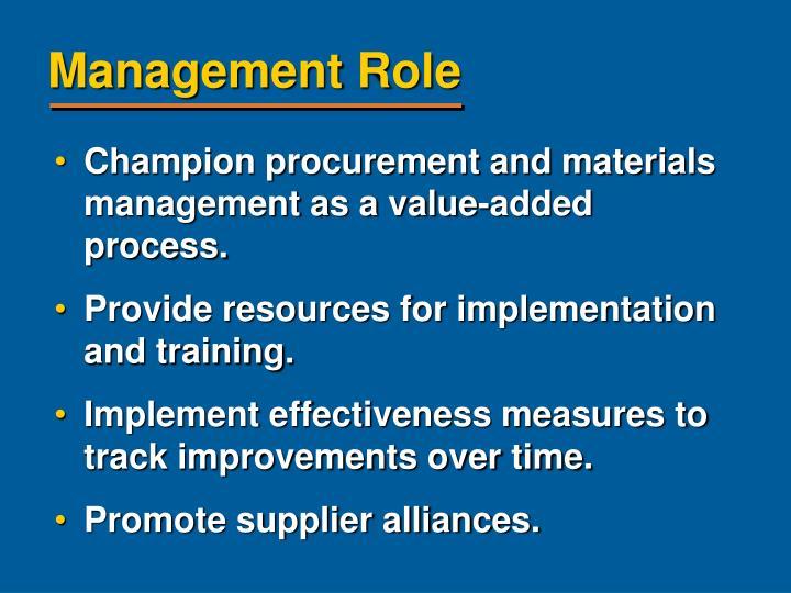 Management Role