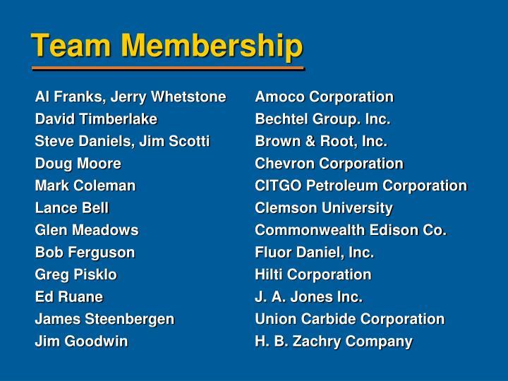 Al Franks, Jerry Whetstone Amoco Corporation