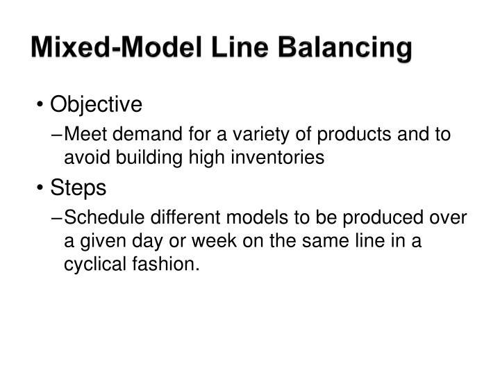 Mixed-Model Line Balancing