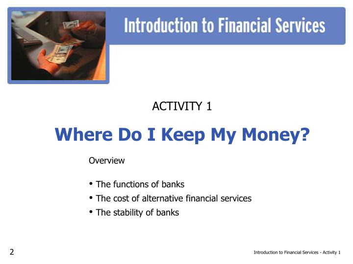 Introduction to Financial Services - Activity 1