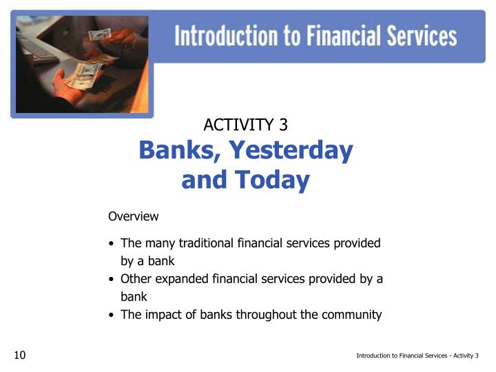 Introduction to Financial Services - Activity 3
