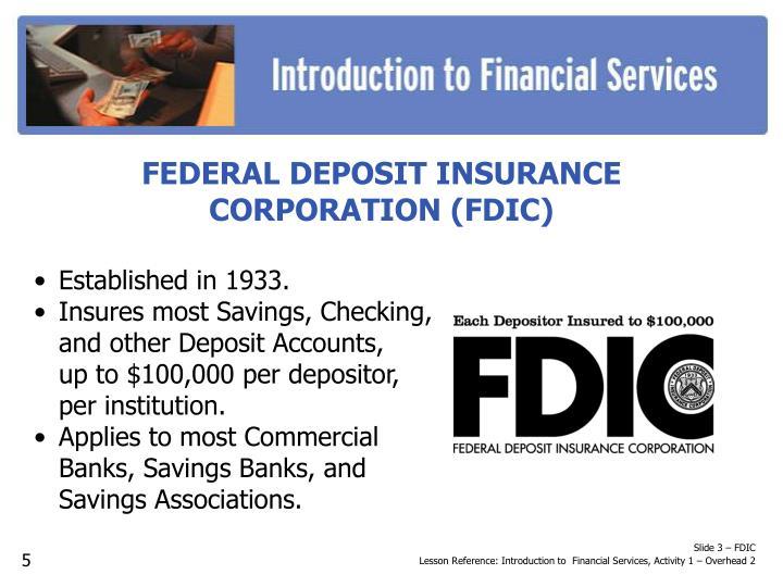 Slide 3 – FDIC