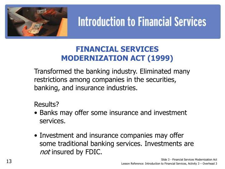 Slide 3 - Financial Services Modernization Act