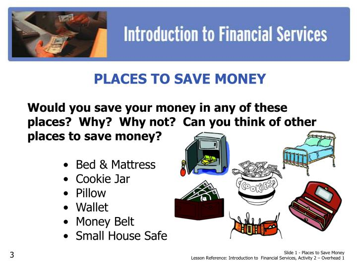 Slide 1 - Places to Save Money