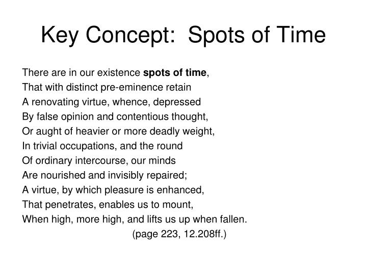 Key Concept:  Spots of Time