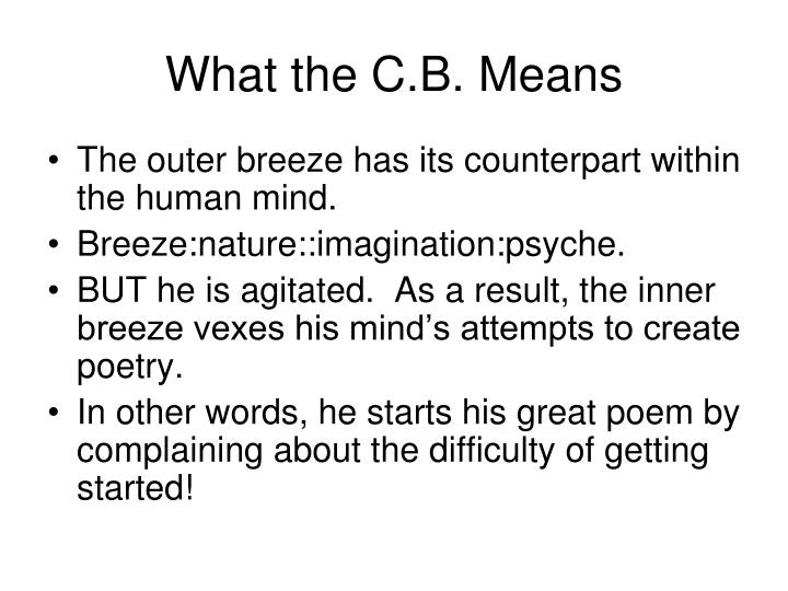 What the C.B. Means