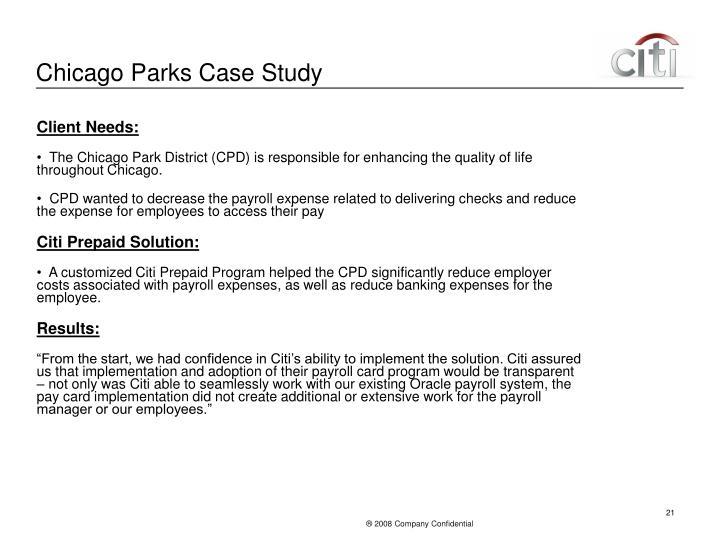 Chicago Parks Case Study