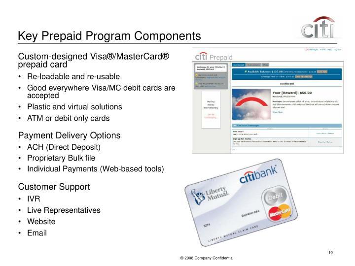 Key Prepaid Program Components