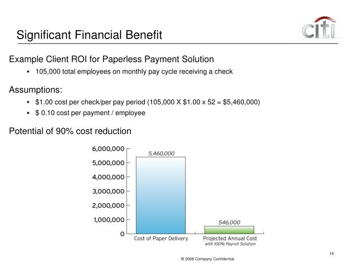 Significant Financial Benefit
