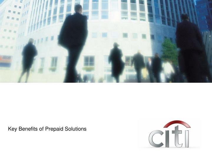 Key Benefits of Prepaid Solutions