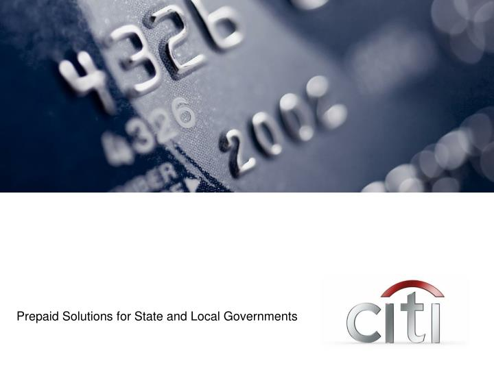Prepaid Solutions for State and Local Governments