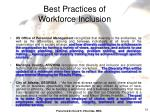 best practices of workforce inclusion