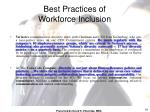 best practices of workforce inclusion1