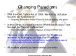 changing paradigms