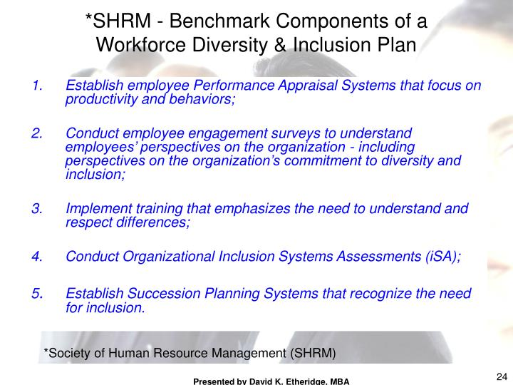 *SHRM - Benchmark Components of a