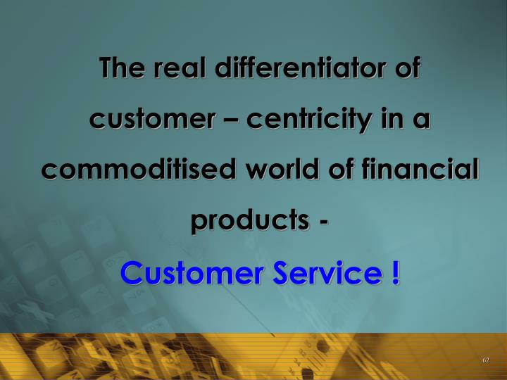 The real differentiator of