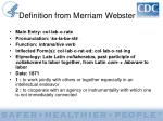 definition from merriam webster