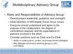multidisciplinary advisory group2