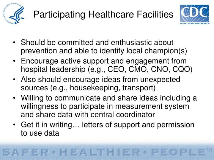 Participating Healthcare Facilities