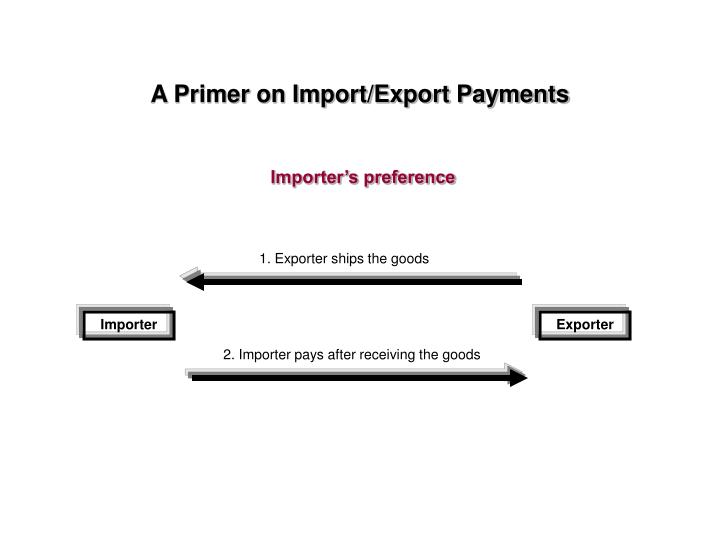 1. Exporter ships the goods