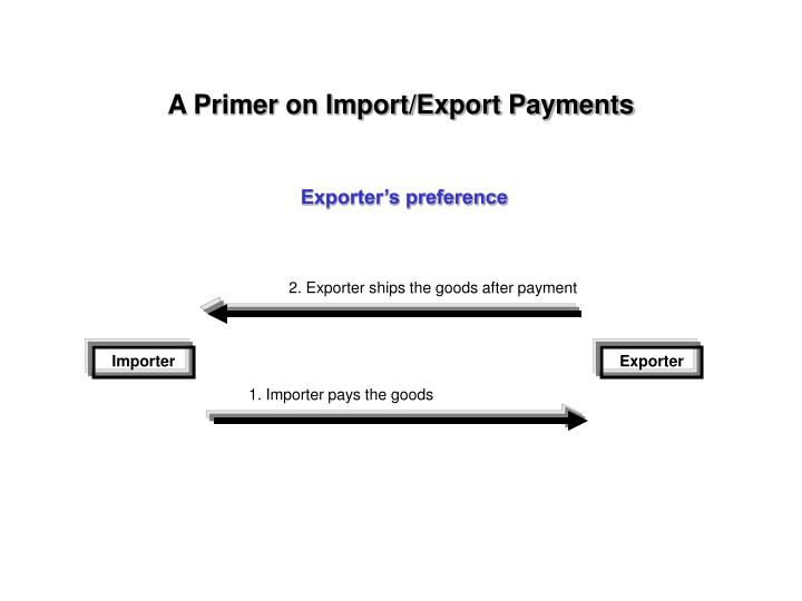 2. Exporter ships the goods after payment