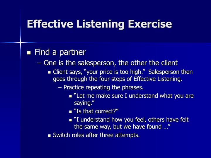 Effective Listening Exercise