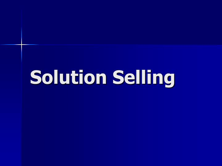 Solution selling