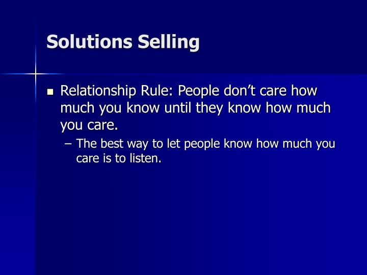 Solutions Selling