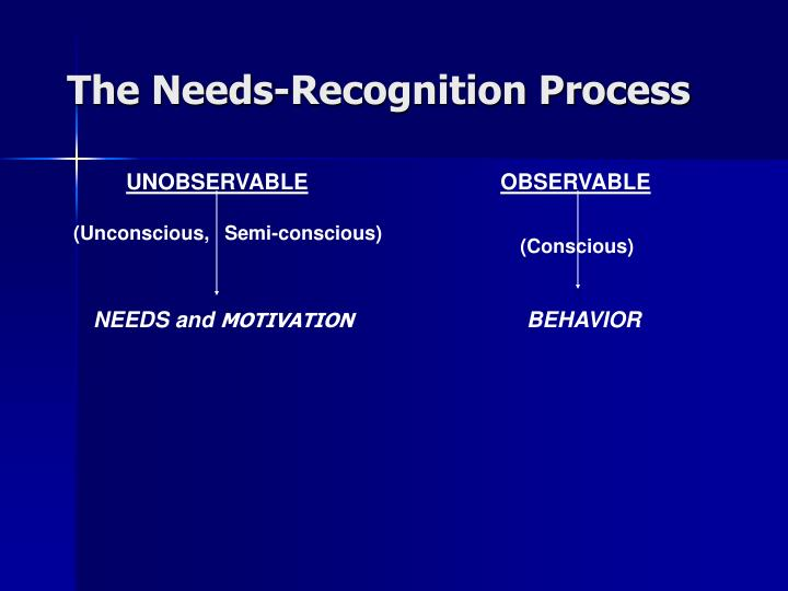 The Needs-Recognition Process