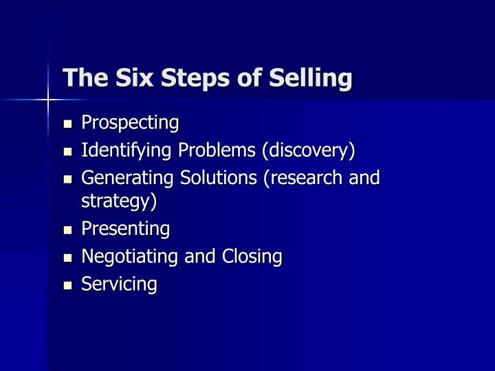The Six Steps of Selling