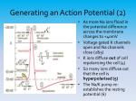 generating an action potential 2