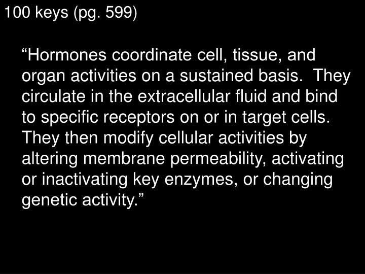 100 keys (pg. 599)