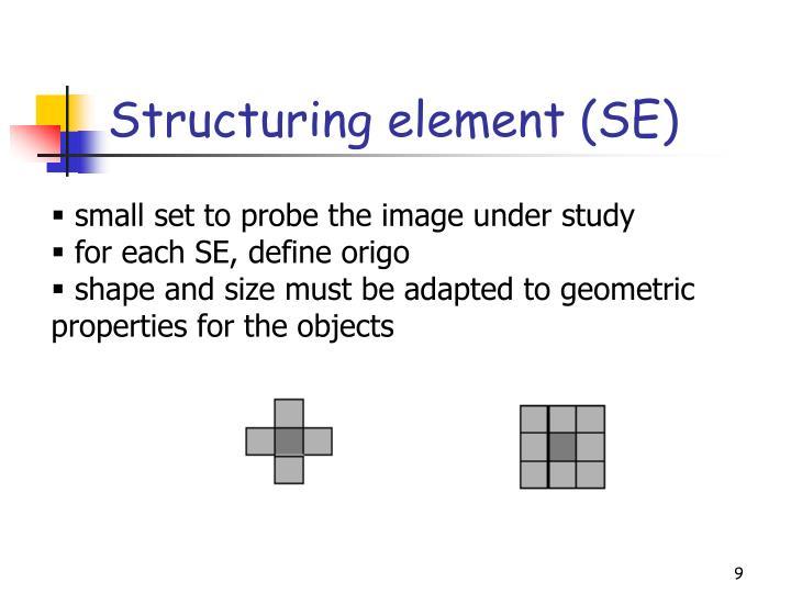 Structuring element (SE)
