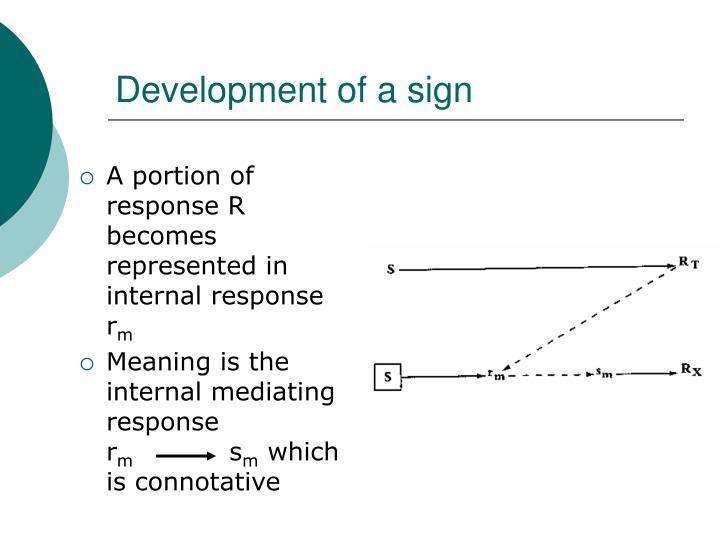 Development of a sign